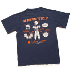 Blueprint to Victory T-Shirt Navy and Orange