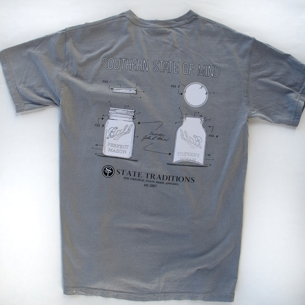 Mason Jar T-Shirt Grey