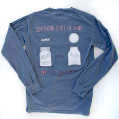 Mason Jar Long Sleeve T-Shirt Blue Jean
