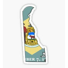 The First State, Delaware State Sticker, Delaware State Flag Decal