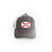 Charcoal Grey Florida State Flag Trucker Hat Front View