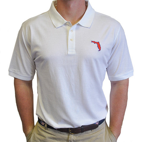 Florida Gainesville Gameday Polo White