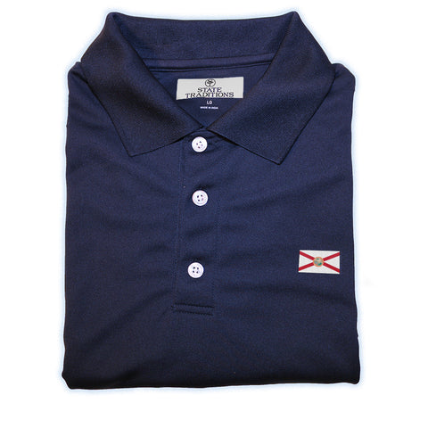 State Traditions Florida Flag Performance Polo Navy