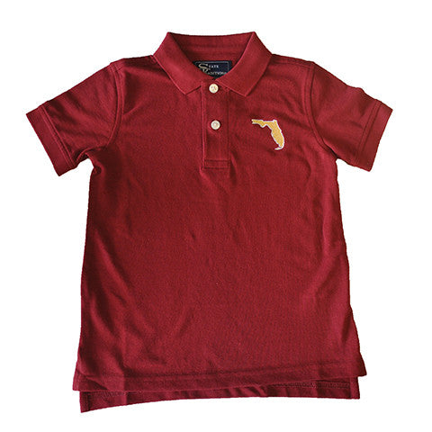 Florida Tallahassee Gameday Youth Polo Garnet