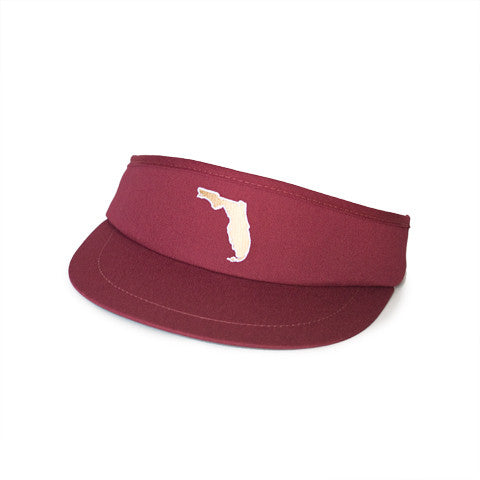 Florida Tallahassee Gameday Golf Visor Garnet