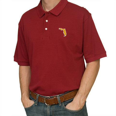 Florida Tallahassee Gameday Polo Garnet