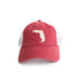 Florida Tallahassee Gameday Garnet Trucker Hat Front View