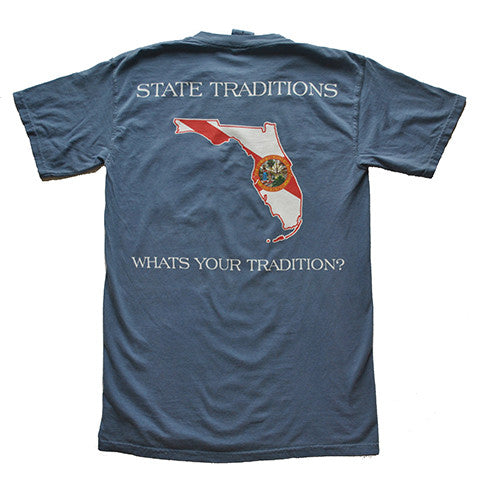 Florida Traditional T-Shirt Blue