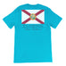 Light blue t-shirt with florida flag