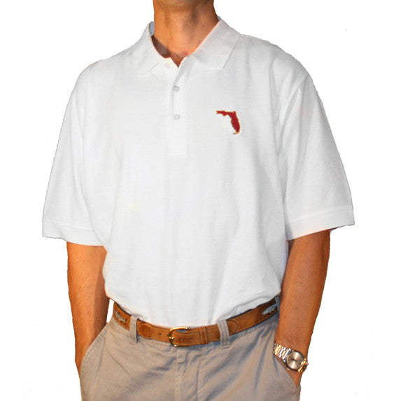 Florida Tallahassee Gameday Polo White