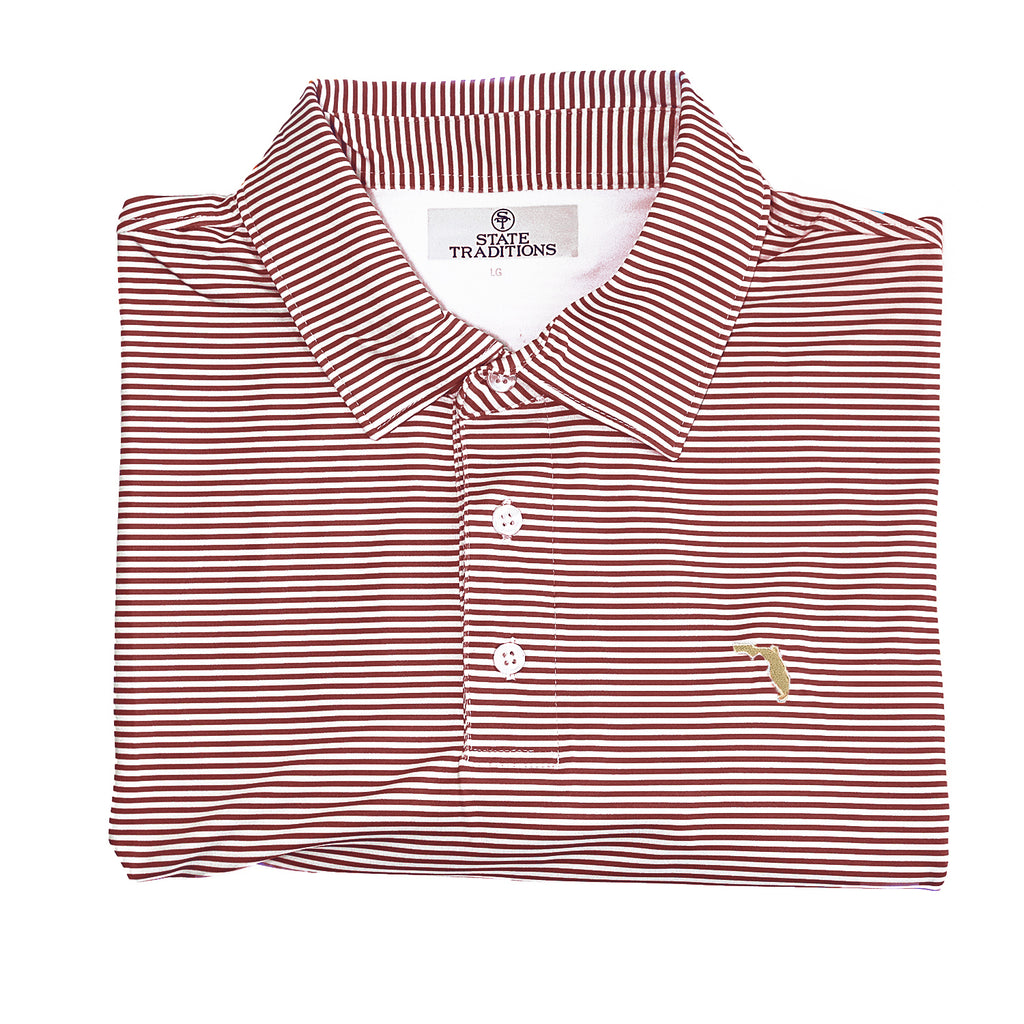 "Florida Tallahassee ""Tips"" Polo Garnet"