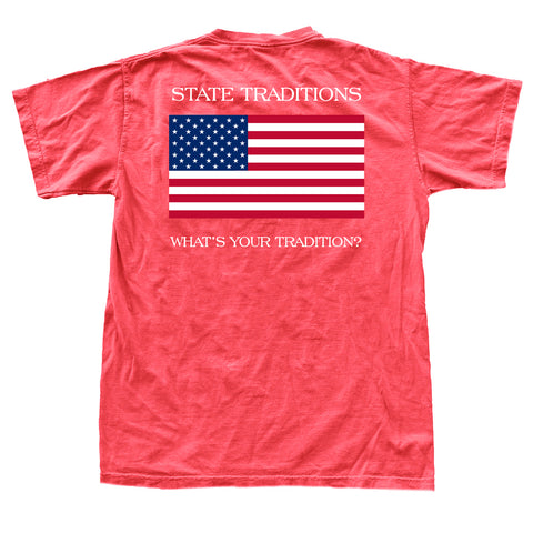 American Flag T-Shirt Red