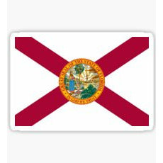 Great Seal Of The State Of Florida Sticker Florida State Seal Decal,The Sunshine State, Florida State Flag, State Flag of Florida Sticker, State Flag of Florida Decal,