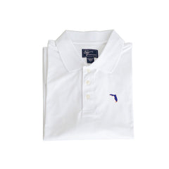 Florida Gainesville Clubhouse Performance Polo White