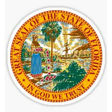 Great Seal Of The State Of Florida Sticker Florida State Seal Decal