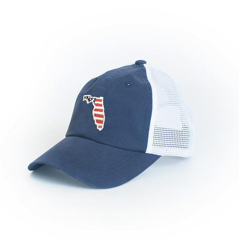 Florida Patriot Trucker Hat Blue