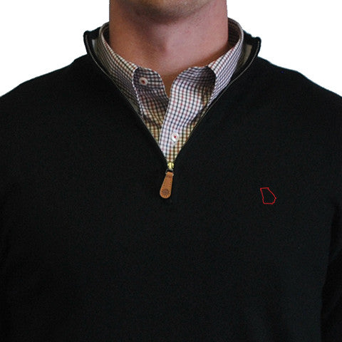 Georgia Athens 1/4-Zip Pullover Black