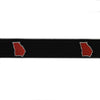 Georgia Athens Gameday Embroidered Belt Black