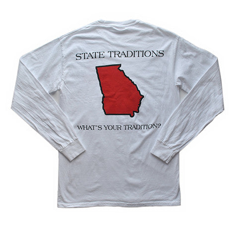 Georgia Athens Gameday Long Sleeve T-Shirt White