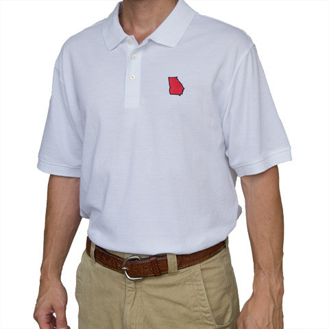 Georgia Athens Gameday Polo White