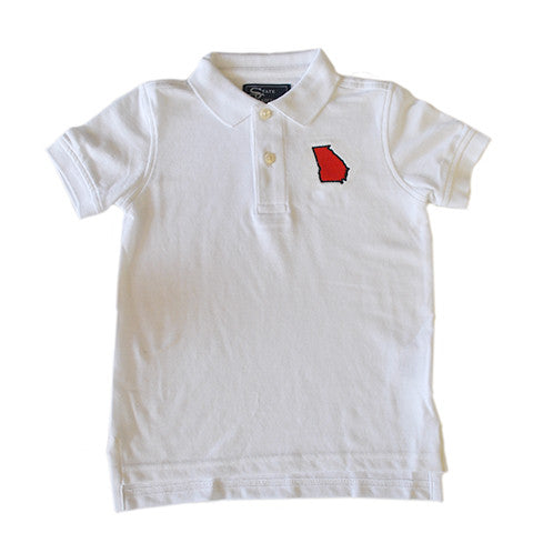 Georgia Athens Gameday Youth Polo White