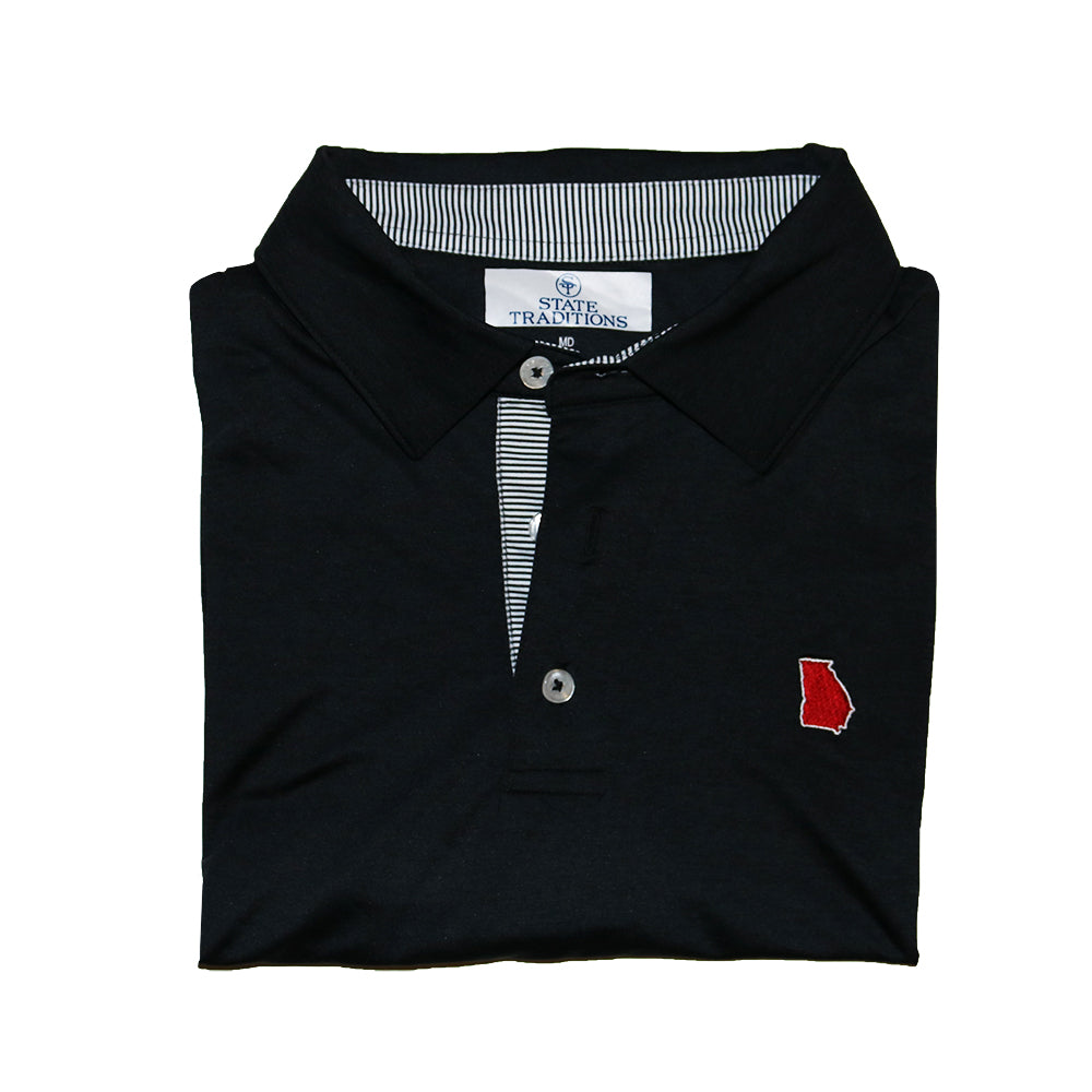 Georgia Athens Gameday Signature Polo Black