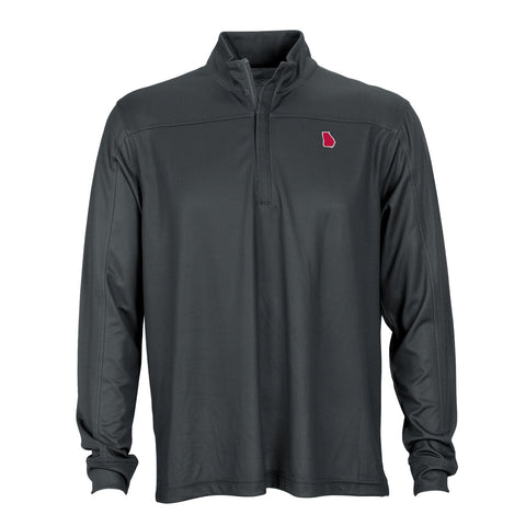 Georgia Athens Gameday Herringbone 1/4 Zip Pullover Charcoal