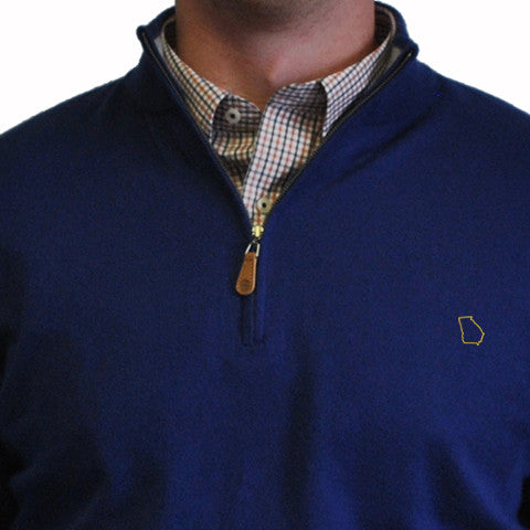 Georgia Atlanta 1/4-Zip Pullover Royal