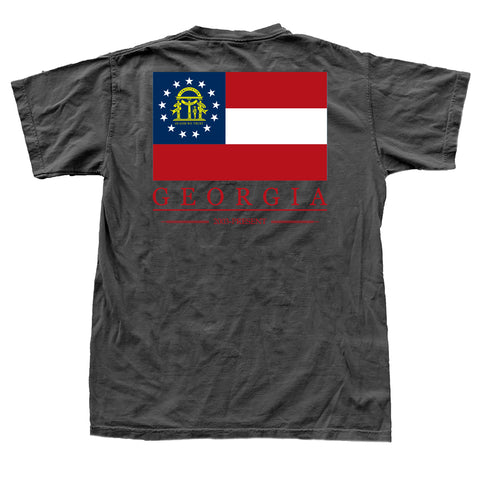 Georgia State Flag T-Shirt Black