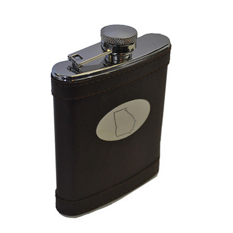 Georgia Leather Flask