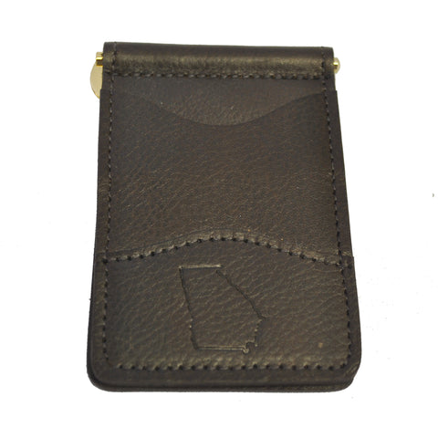 Georgia Leather Money Clip Bison