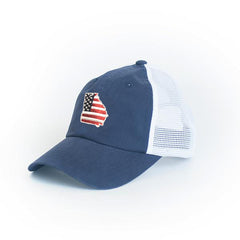 Georgia Patriot Trucker Hat Blue