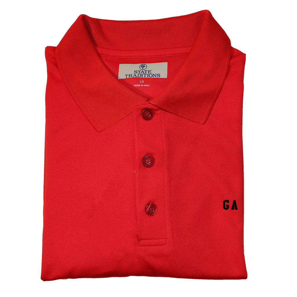 "Georgia ""GA"" State Letters Performance Polo"