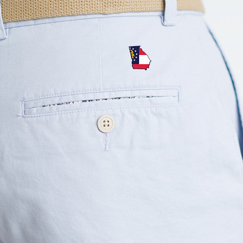 Georgia Traditional Coastline Shorts Slate Blue
