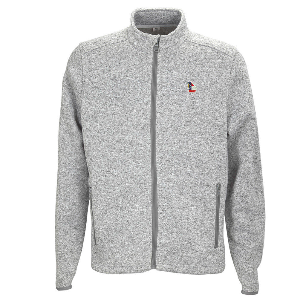 Georgia Traditional Heather Sweater Grey