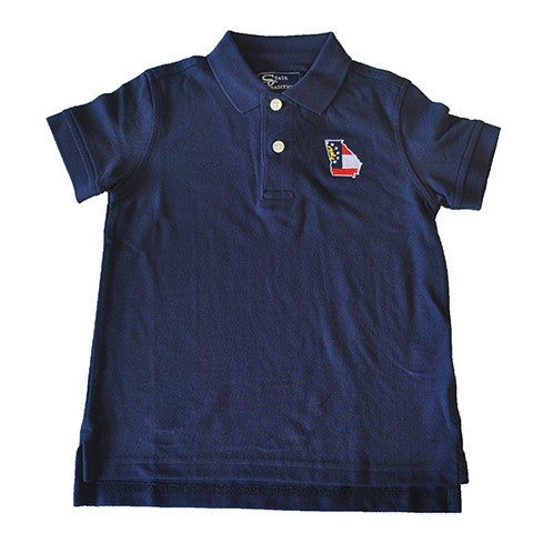 Georgia Traditional Youth Polo Navy