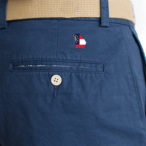 Georgia Traditional Coastline Shorts Navy