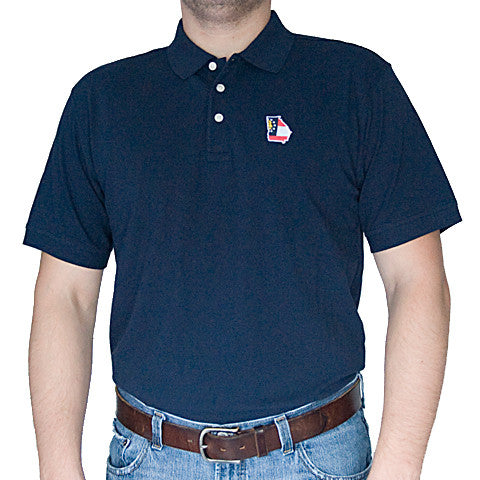 Georgia Traditional Polo Navy