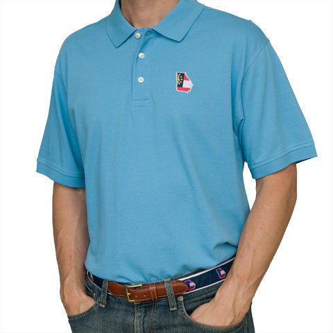 Georgia Traditional Polo Light Blue