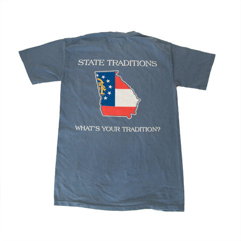Georgia Traditional T-Shirt Blue