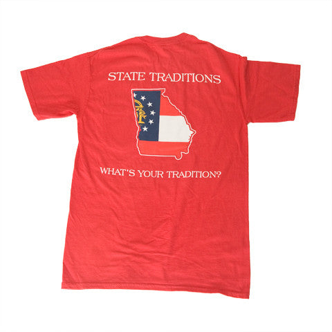 Georgia Traditional T-Shirt Red