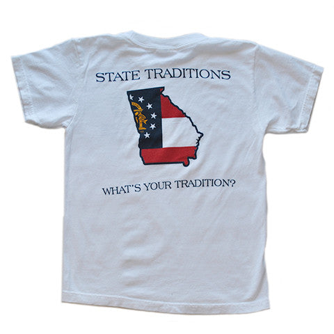 Georgia Traditional Youth T-Shirt White