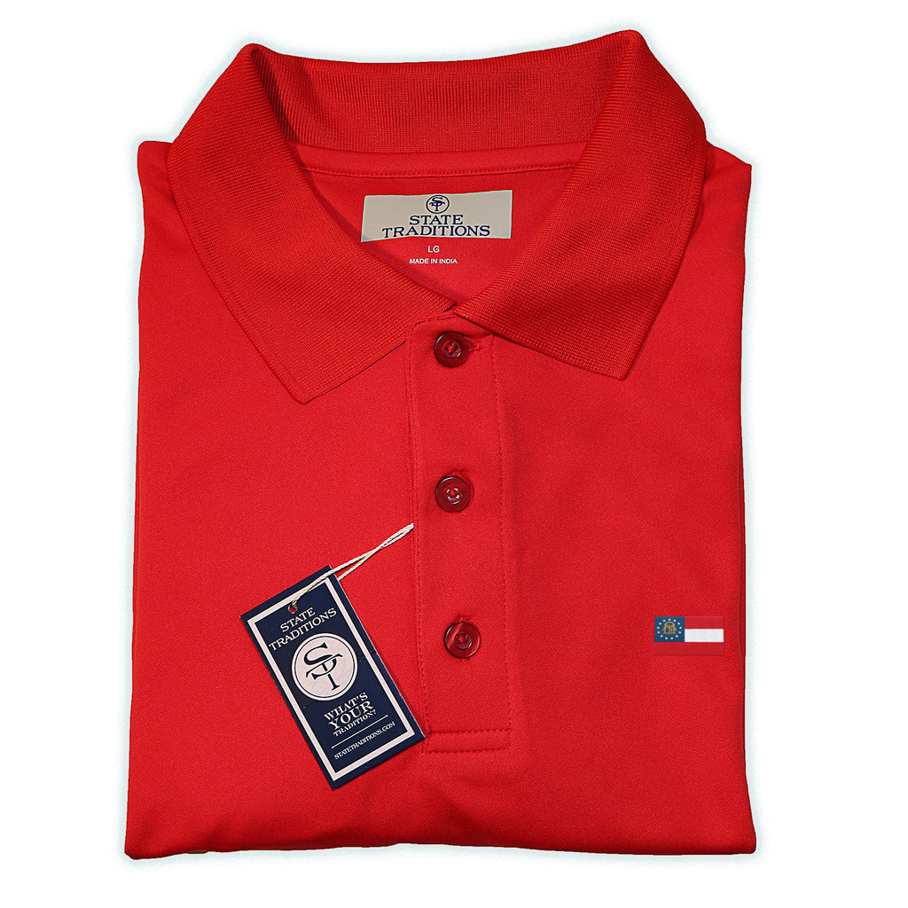 Georgia Flag Performance Polo