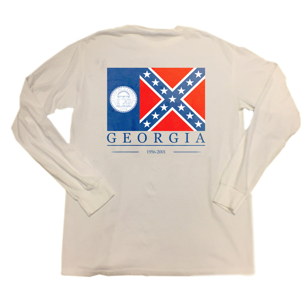 Throwback Georgia Flag Long Sleeve T-Shirt
