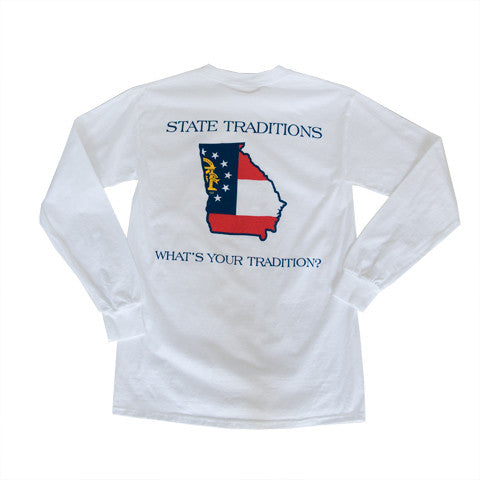 Georgia Traditional Long Sleeve T-Shirt White