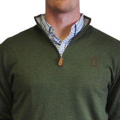 Mississippi 1/4-Zip Pullover Hunter Green