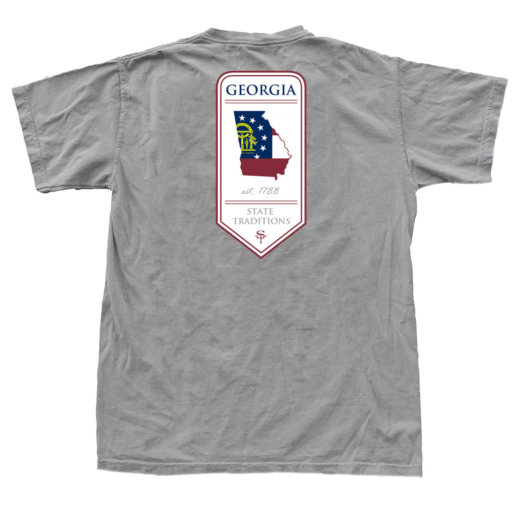 Georgia 1788 Banner T-Shirt Grey