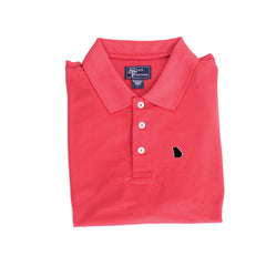 Georgia Athens Clubhouse Performance Polo Red