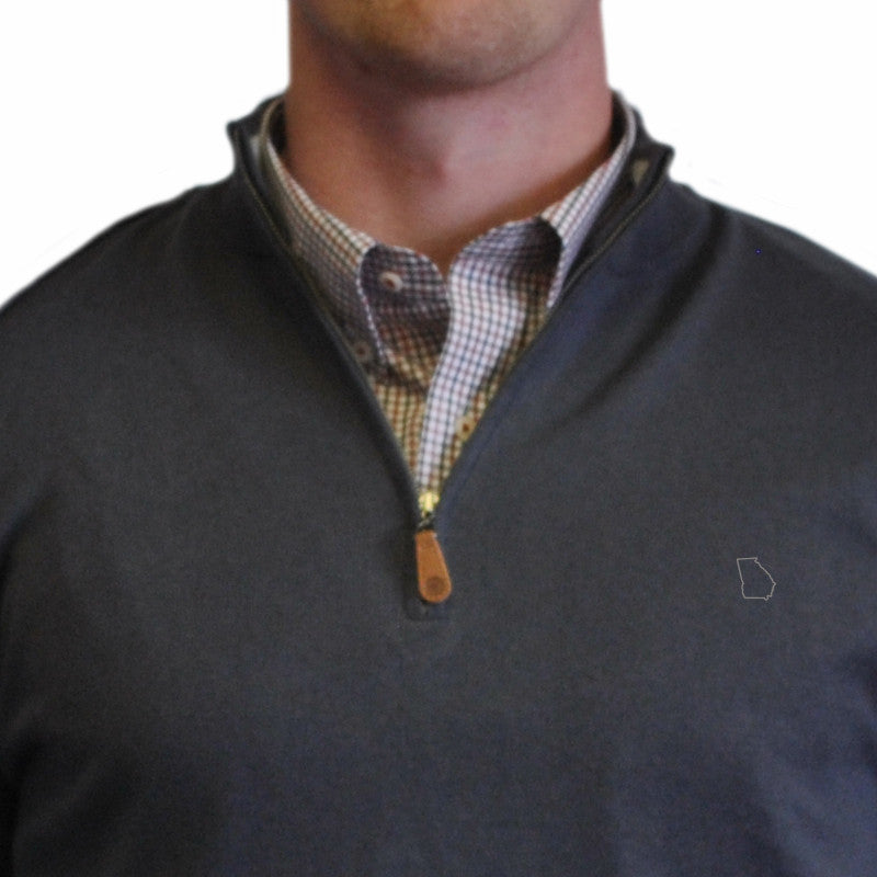 Georgia 1/4-Zip Pullover Grey