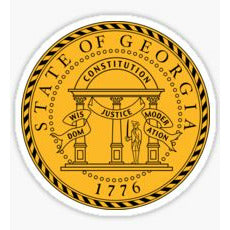 Georgia State Seal Sticker